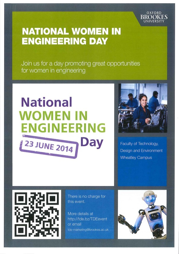 Brookes Women in Engineering Day