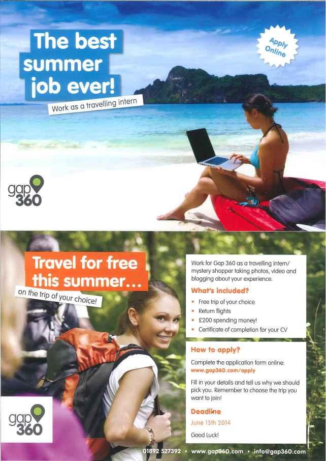 Gap 360 Travelling internship