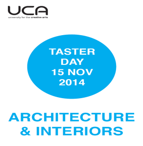UCA Architecture and Interiors Taster Day