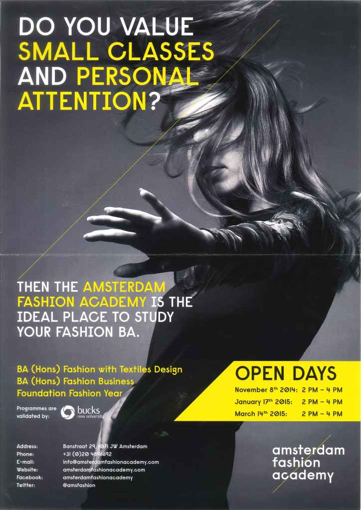 Amsterdam Fashion Academy Open Days