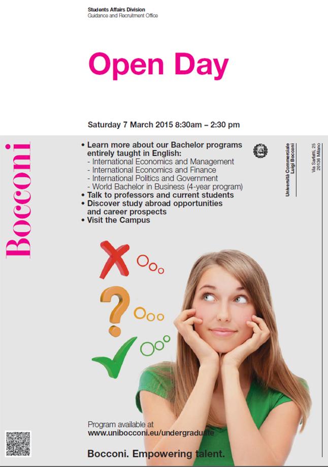 Bocconi Open Day