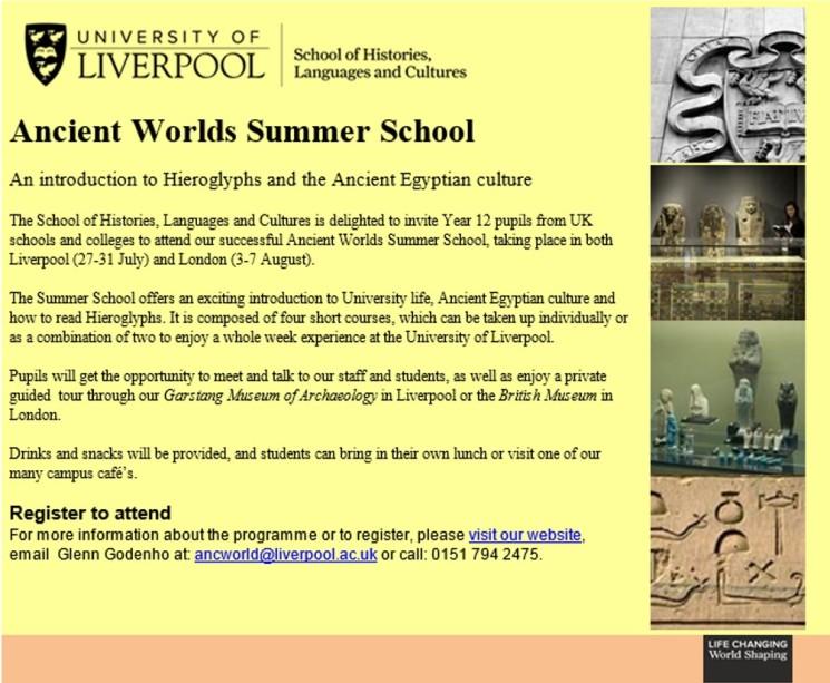 Ancient Worlds Summer School