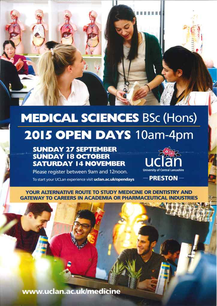 Medical Sciences Open day at Uclan