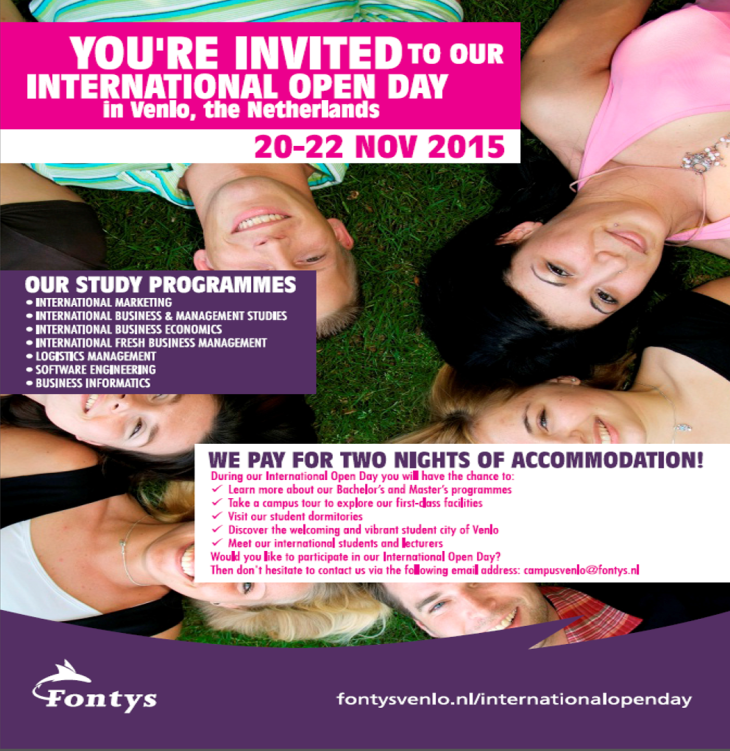 Fontys Open Weekend 2015
