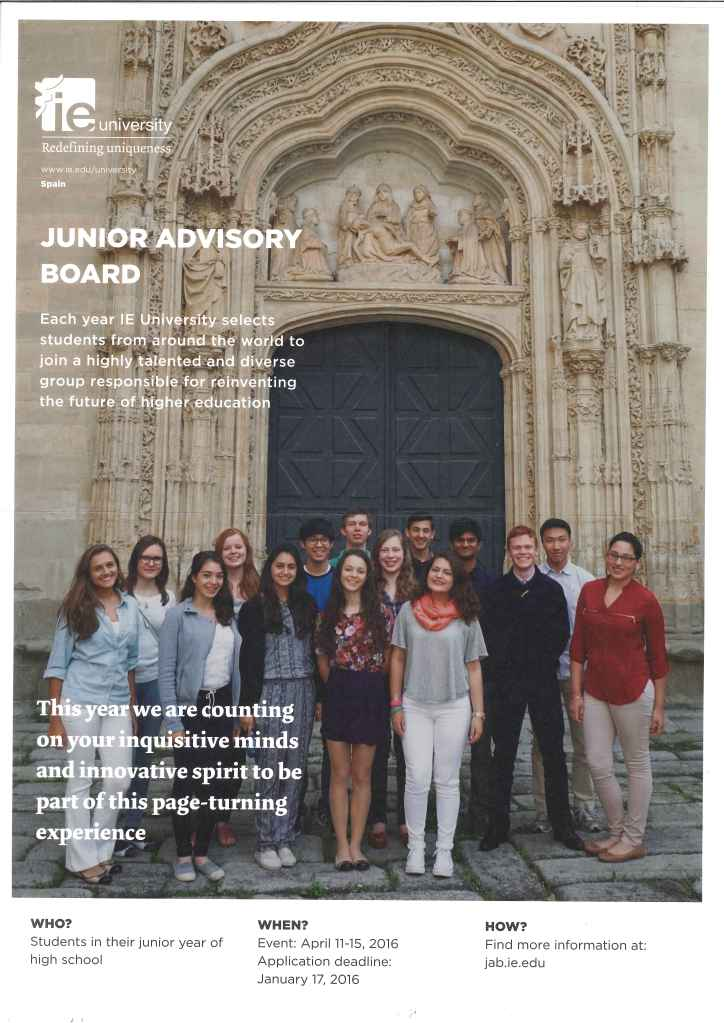 IE Junior Advisory Board 2016