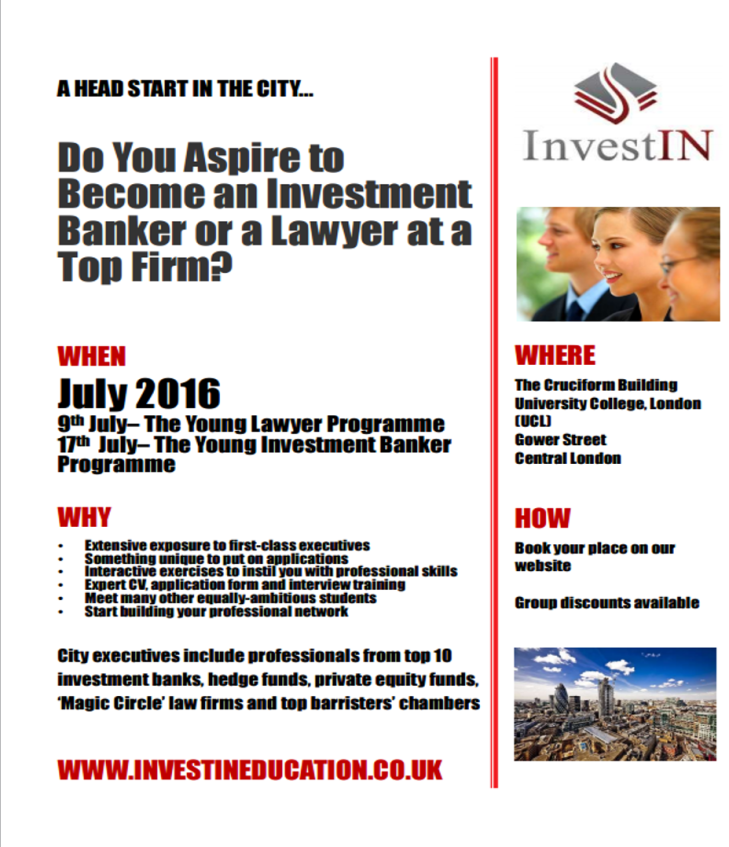 Invest in summer 2016