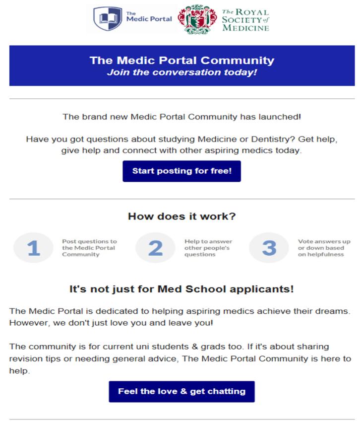 medic portal community