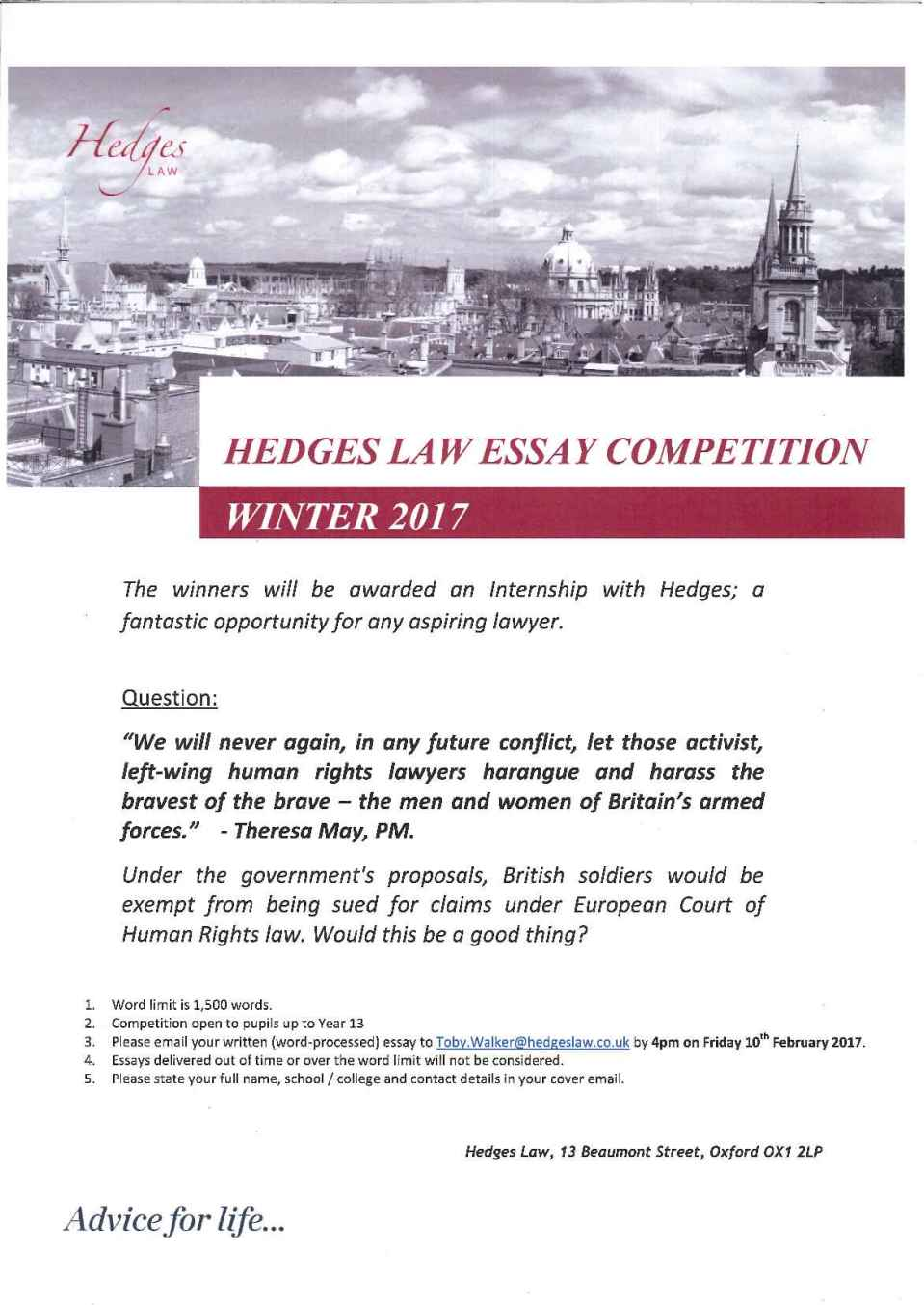 essay competition st clare s careers share this