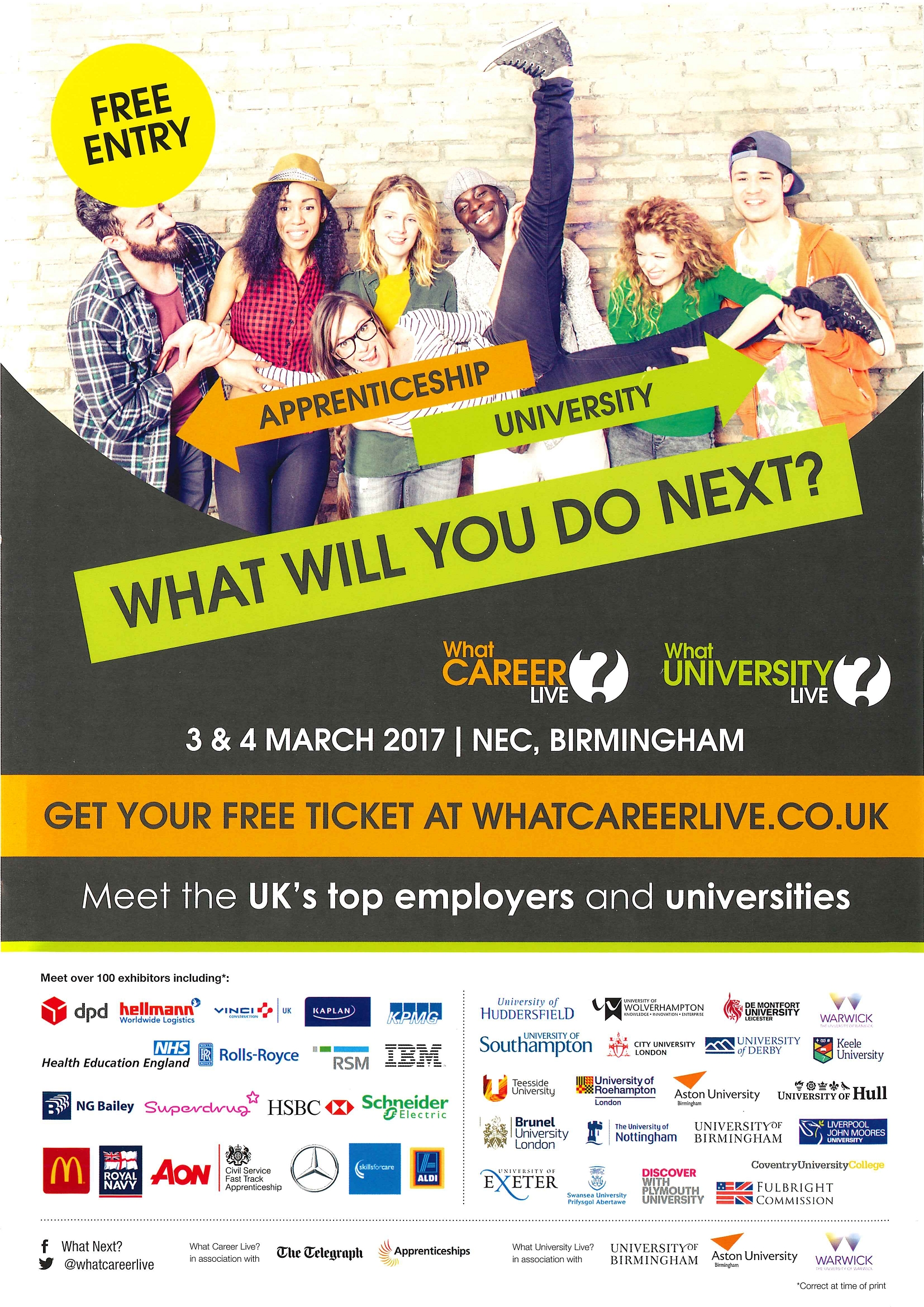 What Career Live and What University Live at the NEC 3 & 4
