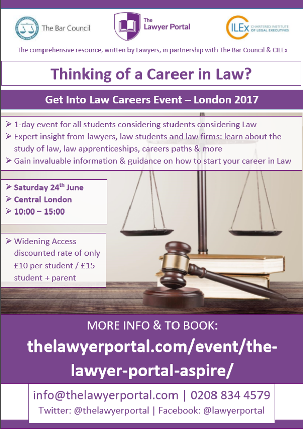 Thinking of a career in law 2017
